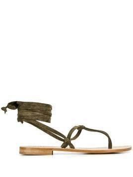 P.A.R.O.S.H. lace-up thong sandals - Green
