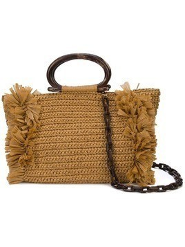 Carolina Santo Domingo Domingo woven tote - GOLD