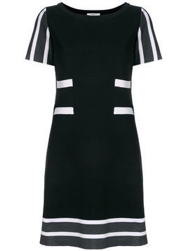 Charlott striped details knit dress - Black