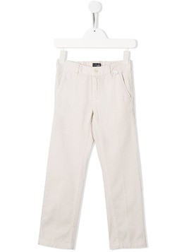 Il Gufo straight-leg chinos - White