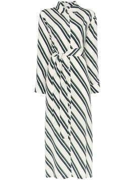Asceno diagonal stripe shirt-dress - Diagonal Stripe 1