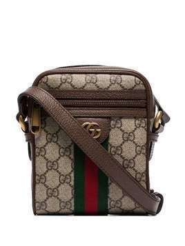 Gucci Ophidia Web stripe shoulder bag - Brown