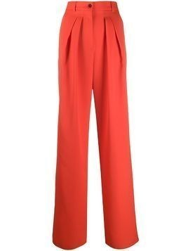 Rochas pleated wide leg trousers - Red