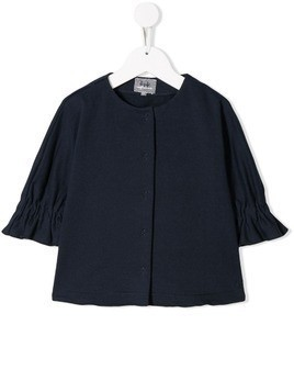 Il Gufo ruched sleeves cardigan - Blue