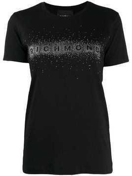 John Richmond studded logo t-shirt - Black