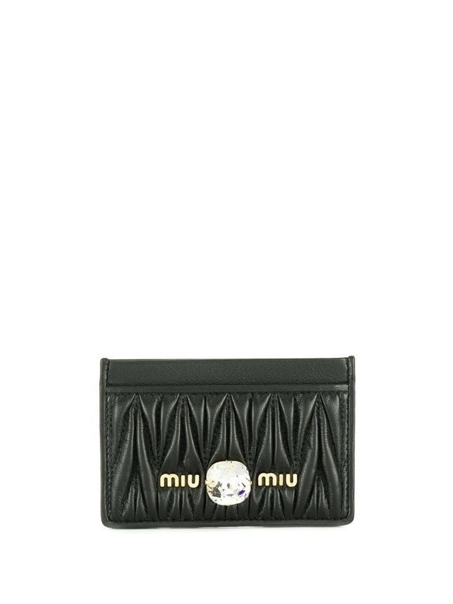 Miu Miu matelassé card holder - Black
