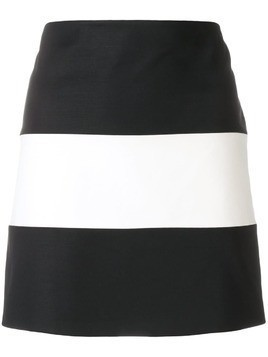 Giorgio Armani Pre-Owned striped mini skirt - Black
