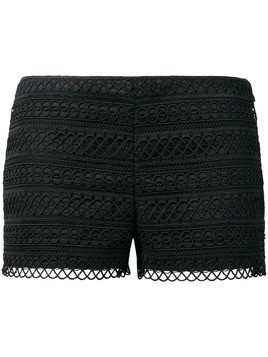 Charo Ruiz embroidered fitted shorts - Black