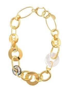 Lizzie Fortunato Jewels interlocking hoop necklace - GOLD
