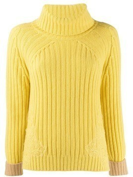 Ermanno Ermanno ribbed knit rollneck sweater - Yellow