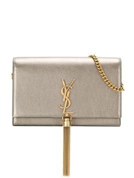 Saint Laurent Kate chain wallet - Metallic