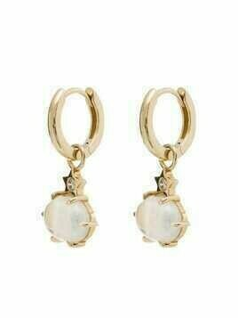Andrea Fohrman 14kt yellow gold mini Cosmo moonstone drop earrings