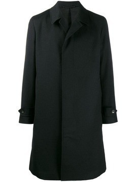 Caruso straight fit coat - Black