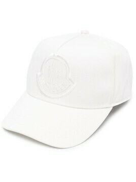Moncler embroidered-logo baseball cap - White