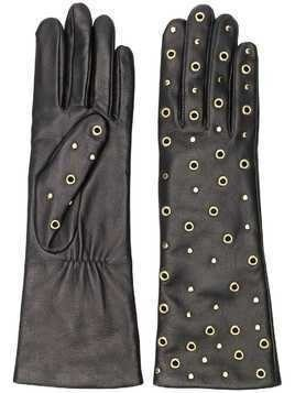 Agnelle eyelet embellished gloves - Black