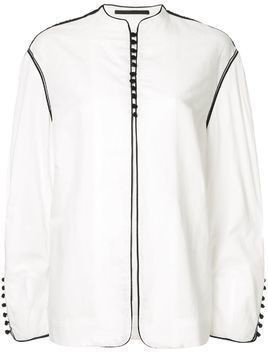 Haider Ackermann oversized button front jacket - White