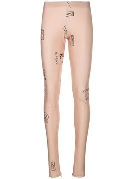 Barbara Bologna printed sport leggings - Neutrals