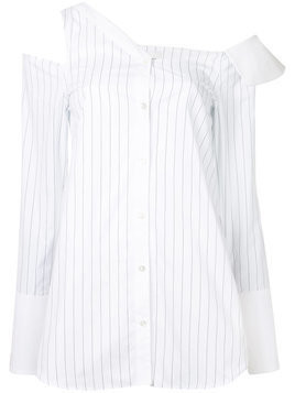 Monographie striped cut-out shout - White