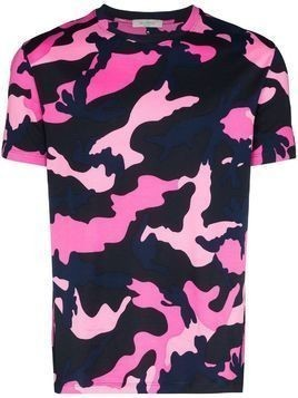 Valentino camouflage-print T-shirt - PINK