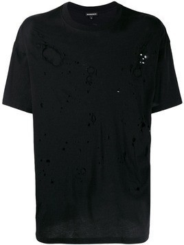 Ann Demeulemeester oversized destroyed T-shirt - Black