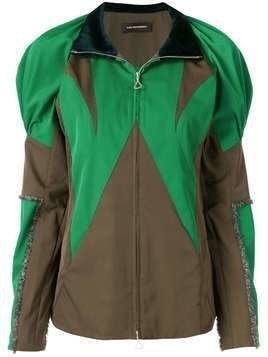 Kiko Kostadinov colour-block zipped jacket - Green