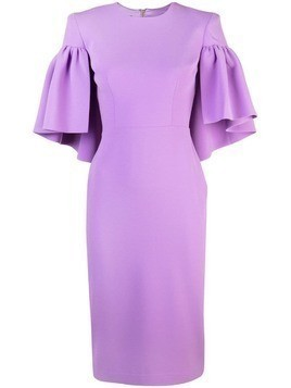 Alex Perry structured shoulders dress - Purple