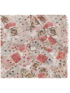 Faliero Sarti playing cards printed scarf - Neutrals