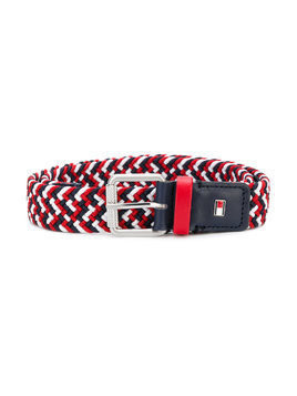 Tommy Hilfiger Junior woven logo belt - Red