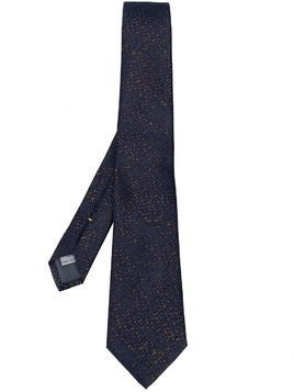Canali embroidered tie - Grey