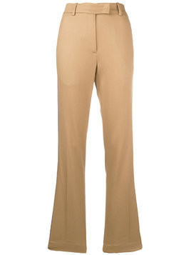 Pinko side stripe flared trousers - Nude & Neutrals