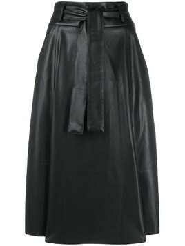Blanca faux-leather A-line skirt - Black