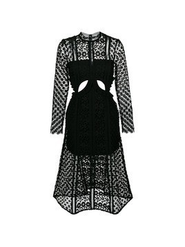 Self-Portrait Payne cut-out dress - Black