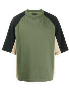 David Catalan colour block T-shirt - Green