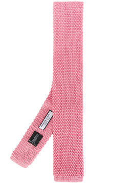 Fashion Clinic Timeless knitted square-tip tie - Pink