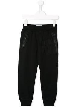 Stone Island Junior classic track trousers - Black