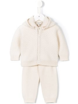 Cashmirino knitted trouser set - White