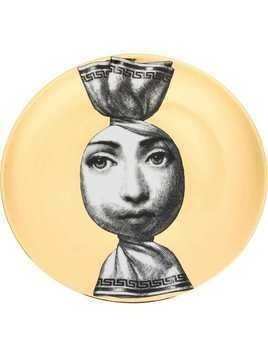 Fornasetti Sweet Wrapper Face print plate - Gold