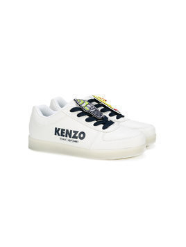 Kenzo Kids Teen light-up sole sneakers - White