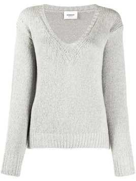 Dondup v-neck chunky knit jumper - Grey