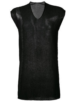 Label Under Construction arched ladder stitch tunic - Black