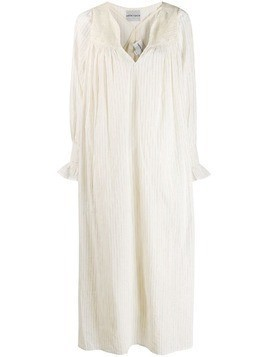 Antik Batik crochet panel striped dress - Neutrals