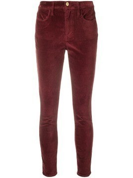 FRAME velvet slim trousers - Red