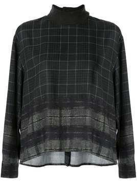 Kuho checked knit jumper - Green