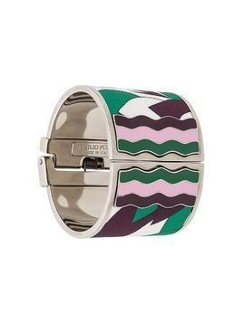 Emilio Pucci abstract print cuff - Green