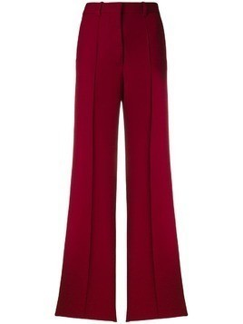 Victoria Beckham wide pleated trousers - Red