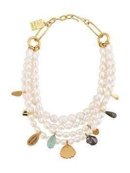 Lizzie Fortunato Jewels mixed charm necklace - White