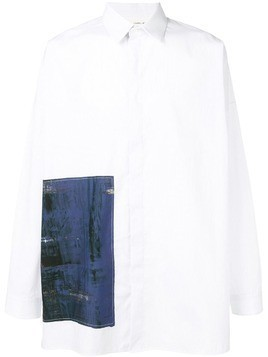 Isabel Benenato relaxed fit shirt - White