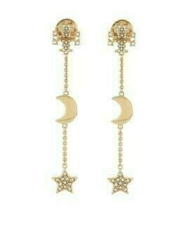 Tory Burch stud-embellished drop earrings - GOLD
