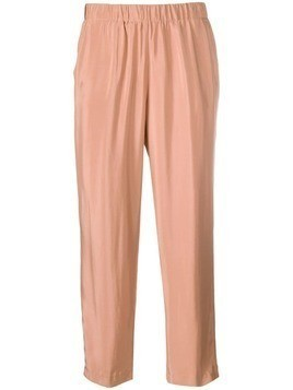 Kiltie cropped trousers - Neutrals