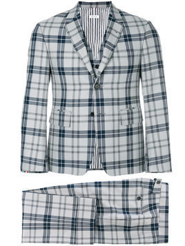 Thom Browne Classic Suit With Tie-In Thom Browne Tartan School Uniform Twill - Grey